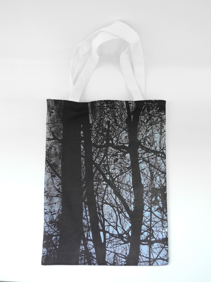 Stylish tote bag with Travelling Forest #2 by Katsutoshi Yuasa.  $158 HKD each.