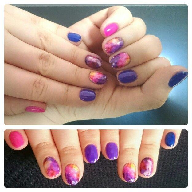 Мои космические ногти #nail #nailart