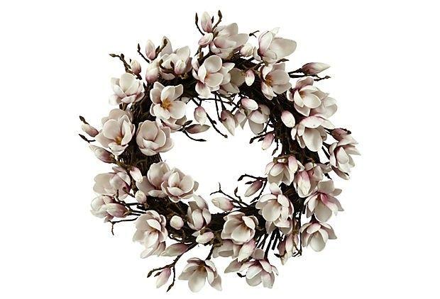 Faux Magnolia Wreath - Foter