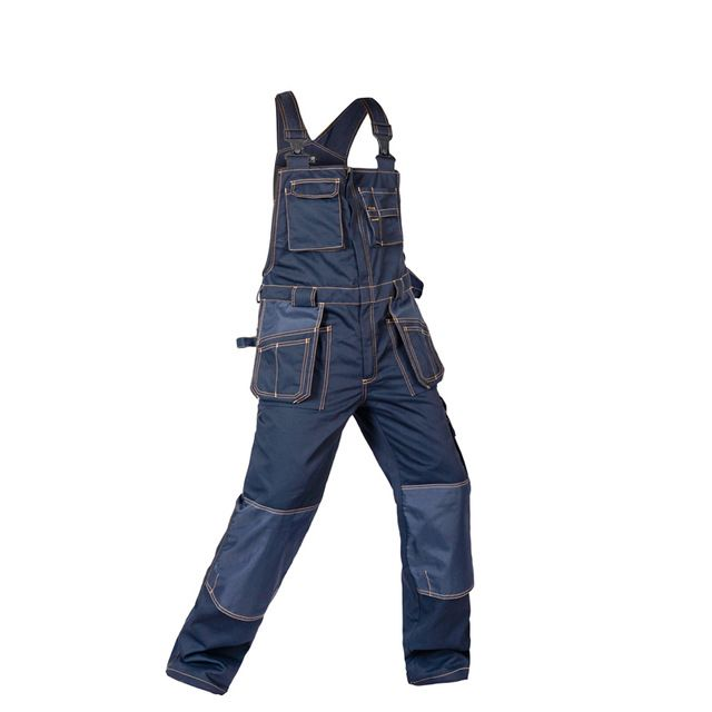 Cut Price $58.06, Buy 2017 Bib Overalls Men Work Coveralls Multi-Functional Pockets Repairman Strap Jumpsuits Pants Wear-Resistance Working Uniforms