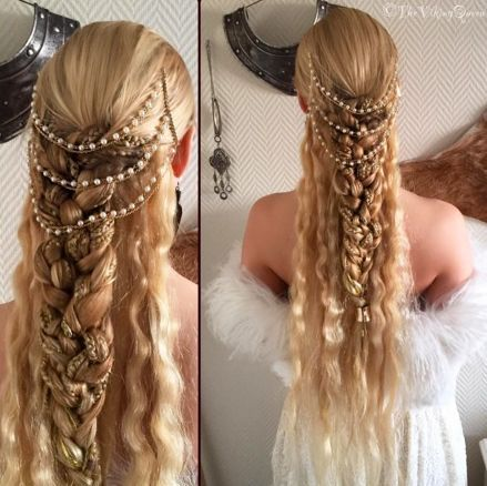Viking Goddess Inspired Hairstyle. Frøya Braids by The Viking Queen.