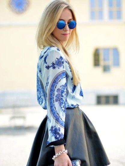 Porcelain blouse #fashion #details