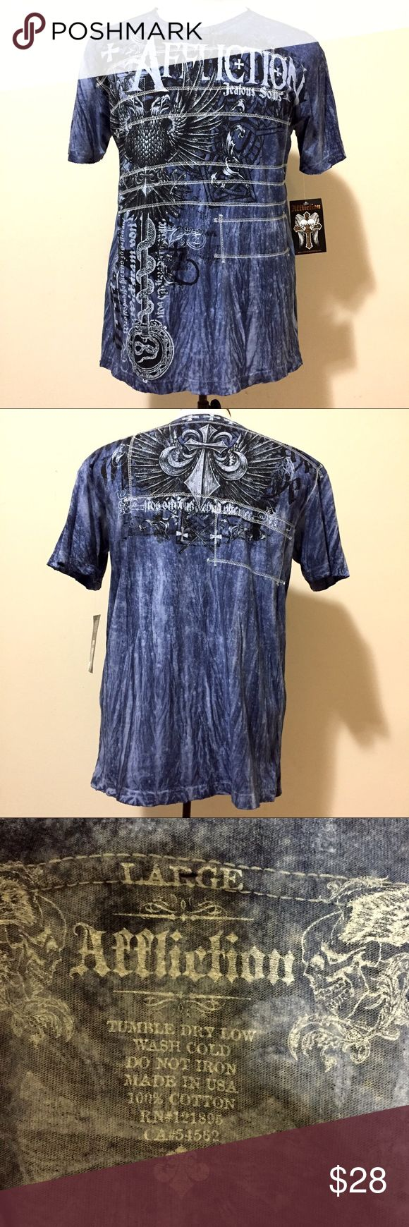 NWT Men's Affliction Eagle T Shirt SZ L This men's Affliction jealous souls tribal shirt is brand new with tags. Size Large. Purchased from Macy's. Tried no return, but can't since it was over three months ago according to the cashier 😐 Affliction Shirts Tees - Short Sleeve