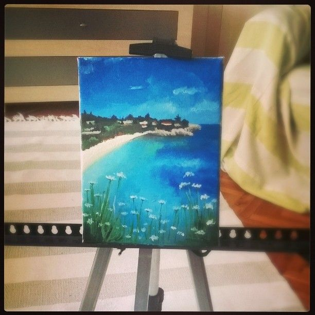 #painting #beach #relax