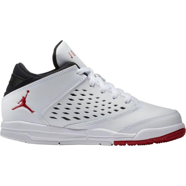 Jordan Kids' Preschool Jordan Flight Origin 4 Basketball Shoes, Boy's, White