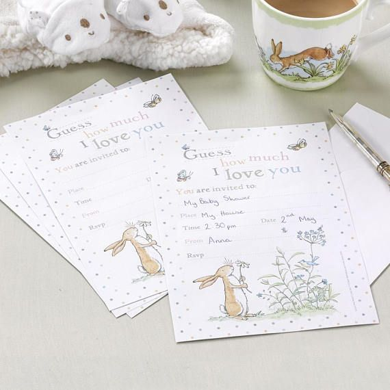 Guess How Much I Love you  Invitations  10