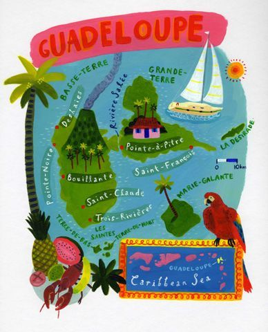 David Dean -  Map of Guadeloupe