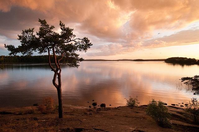 Sunset at Savonlinna, Finland by jokkebk, via Flickr