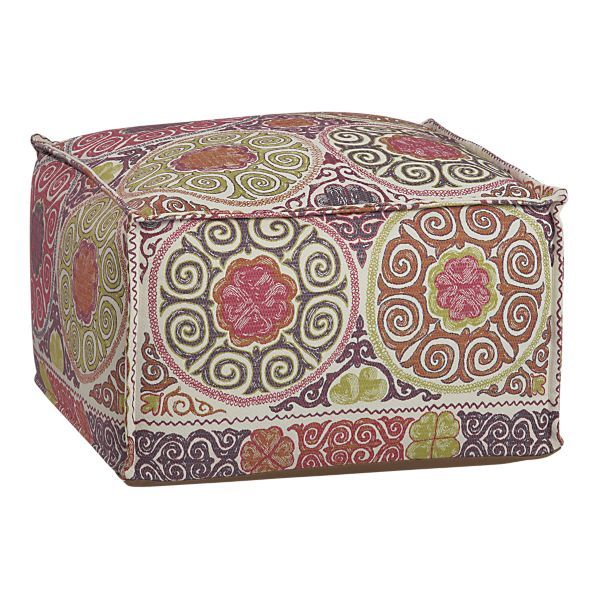 1000 images about ottoman on pinterest ottomans lilly for Crate and barrel pouf