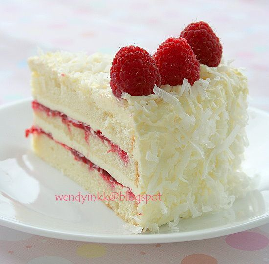 Table for 2.... or more: Coconut Raspberry Lemon Cake - Rasps Whole Cakes # 1