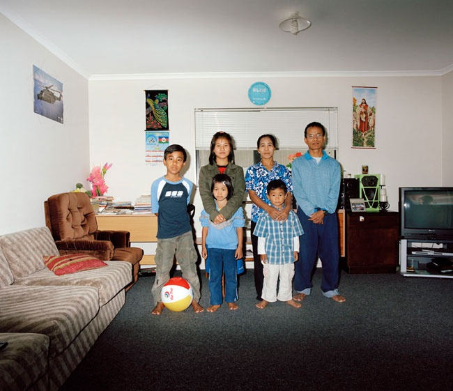 Edith Amituanai, The Lai Family, 2009, from the series La Fine Del Mondo,C-type photograph