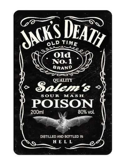 EctoPlasm's 2nd Jack's Death label... I will putting this on my friends Jack bottle at her party.