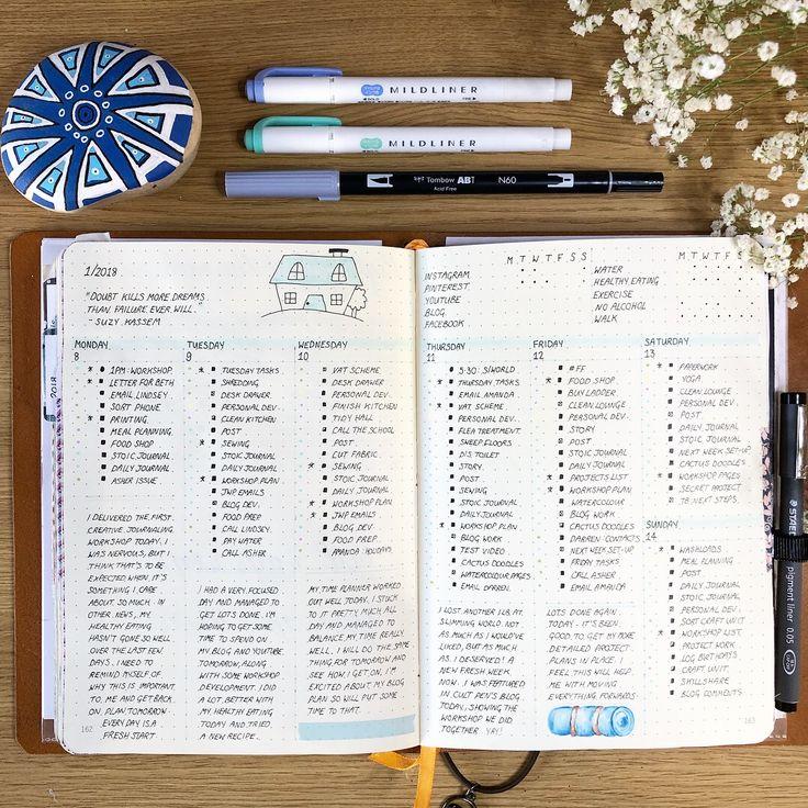 Daily plans in my bullet journal #bujo #bulletjournal #planner
