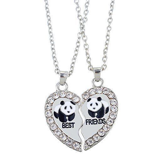Fanze 925 Sterling Silver Cubic Zirconia Cute Little Panda clmb Bamboo Animal Pendant Necklace eAN74