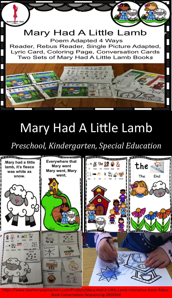 Mary Had A Little Lamb Nursery Rhyme Adapted 4 Ways