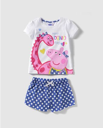 Pijama de niña Personajes de Peppa Pig