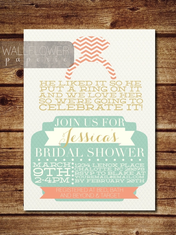 bridal shower invitations registry etiquette%0A Items similar to He Put A Ring On It   Bridal Shower Invitation on Etsy