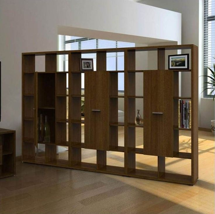Wooden room dividers residential pinterest room dividers wall dividers and bookshelf wall - Half wall bookcase room divider ...