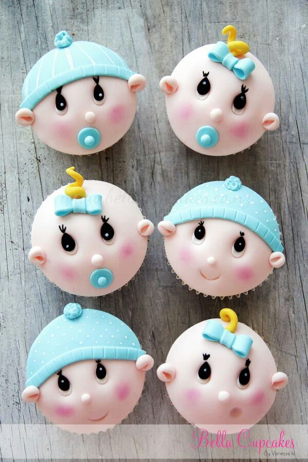 Cupcakes shower de bébé / Baby shower cupcakes