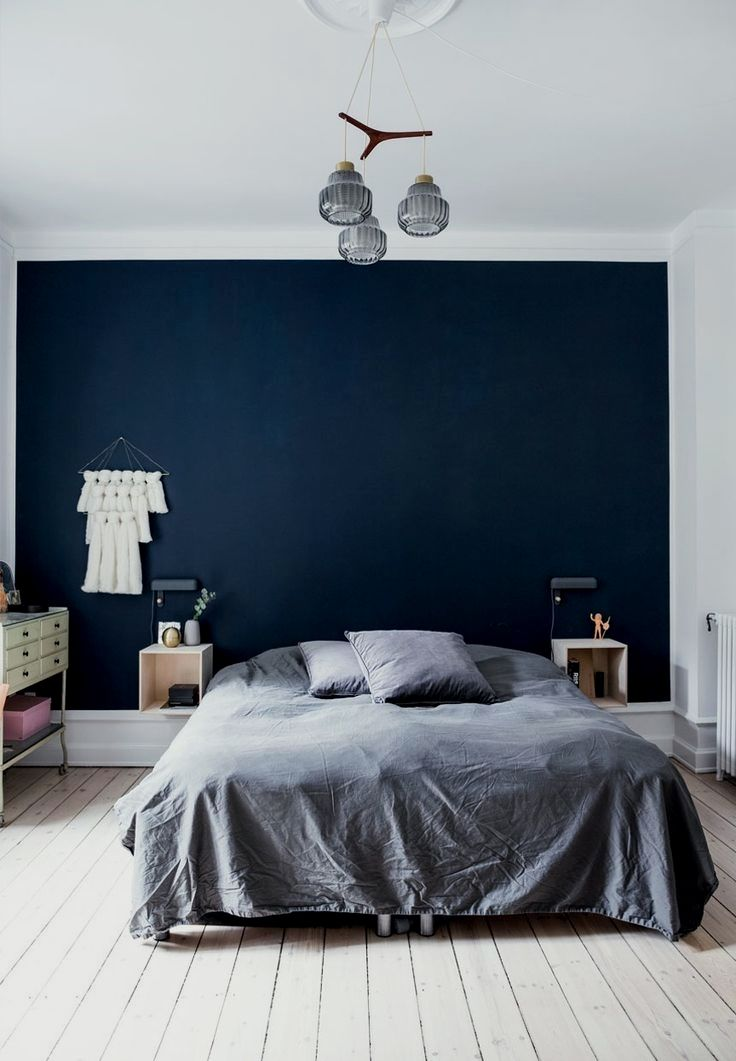 41 Bedroom Wall Paint Designs You Do Not Want To Miss Dark Blue