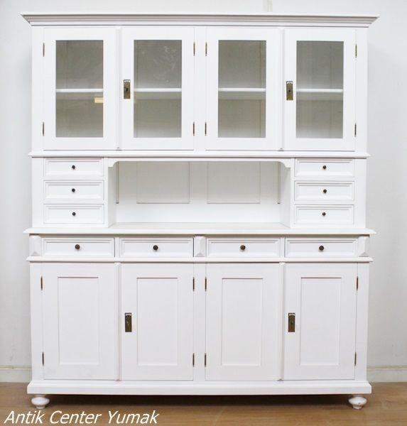 jugendstil buffet k chenschrank vertiko kommode pult shabby chic weiss antik in antiquit ten. Black Bedroom Furniture Sets. Home Design Ideas