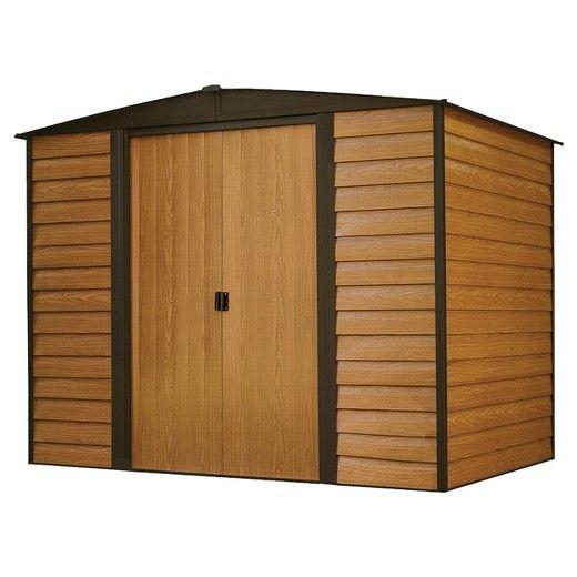 Woodridge Steel Storage Shed 8' X 6' - Arrow Storage Products
