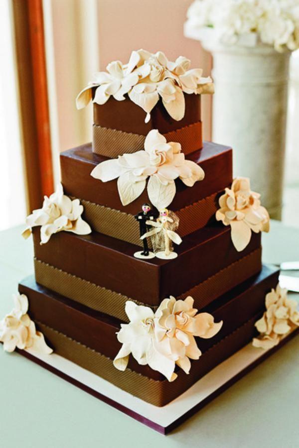 hochzeit-torte-braun-quadratisch-herbst-thema