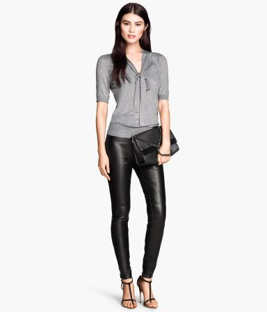 Product Detail   H&M US - Imitation Leather Pants, size 8