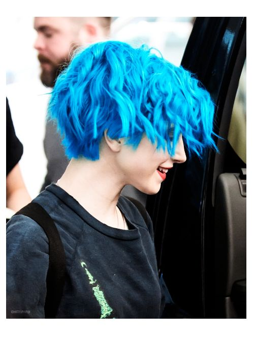 Hayley Williams Hair Blue