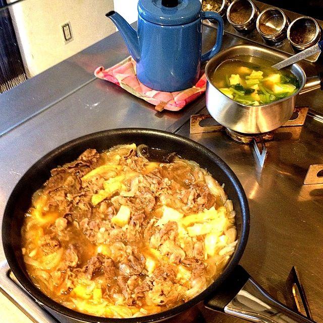 レシピは後ほど投稿します(=゚ω゚)ノ - 38件のもぐもぐ - 牛こま切れ肉&新玉ねぎの牛丼♡厚揚げかさまし(笑)風邪気味の肉食兄弟に捧ぐー♫ by happykuisinbow