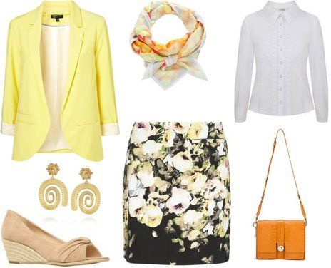 Not vintage, but I like the jacket/floral skirt/mostly neutral accessories thing Dress Code: Smart Casual – Etiquette Tips | Manners & Communication