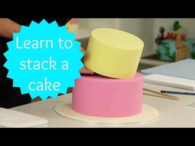 How to Stack a Two Tier Cake - CAKE STYLE