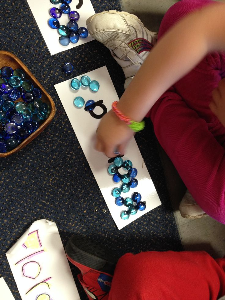 building our names with loose parts