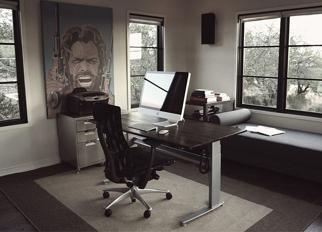 web design workspaces workspace office interior. Modren Workspace Simple But Still Height Adjustable Office Desk Layouts U2013 A Balance Between  Over 50 Cool Designs U0026 Workspaces For Inspiratio To Web Design Workspace Interior S