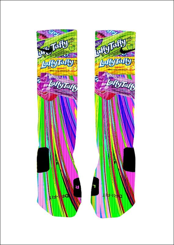 Custom Laffy Taffy Candy Socks Custom Nike Elite Socks on Etsy, $18.00