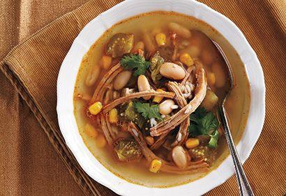 #Soupe au #porc effiloché à la #mexicaine