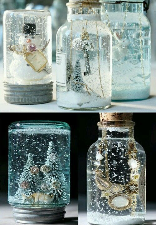 make your own snow globe: