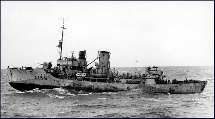 Royal Canadian Navy - HMCS BATTLEFORD (K 165) Was a (205') Flower Class Corvette – Commissioned: 31 July 1941 – Compliment: 85 Officers and Enlisted Men – Armament: 1 x 4 Inch (102mm) Mk.IX Gun (Single Mount) 2 x .50 cal Machine Guns (Twin Mount) 2 x .303 cal Lewis Machine Guns (Twin Mount) 2 x Mk.II Depth Charge Throwers and 2 x Depth Charge Rails with 40 Depth Charges – Sensors: 1 x SW1C or 2C Radar, 1 x Type 123A or 1127DV Sonar - Decommissioned: 18 July 1945 and Sold to Venezuela