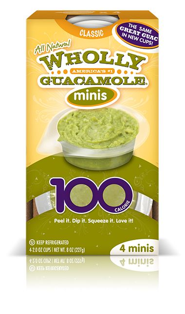 Wholly Guacamole Minis -- perfect for a snack without eating an entire normal size container :)