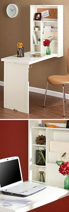 Genius, absolute genius! I need this convertible fold out desk in my house, now! #furniture_design