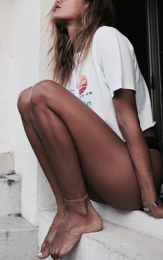 girl | summer | beach | t-shirt | skin