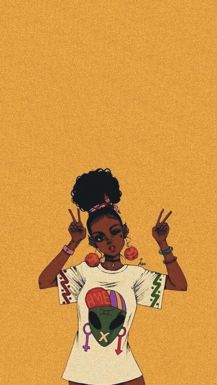 Art Estilo Vintage Cool Tattoos Illustration Girl Creative Https Weheartit Com Entry 32680907 Black Girl Art Black Art Pictures Black Girl Magic Art
