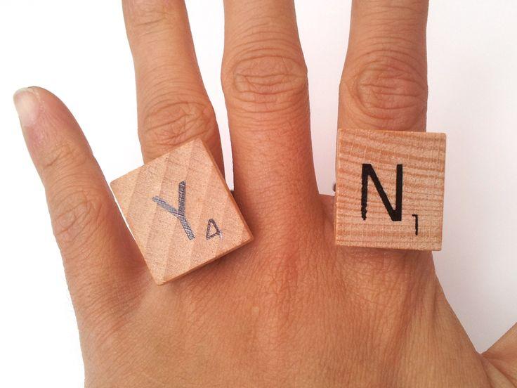 DIY Scrabble Ring On
