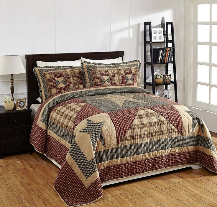 bed pinterest primitive a bedroom bedding getfolkart great the wonderful heartland on best this prim red colors country images is in