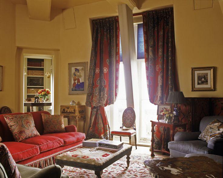 Waddesdon Manor England Mlinaric Henry Zervudachi Englisch Huser WohnzimmerVorhngeFeuerstellePolsterWindow