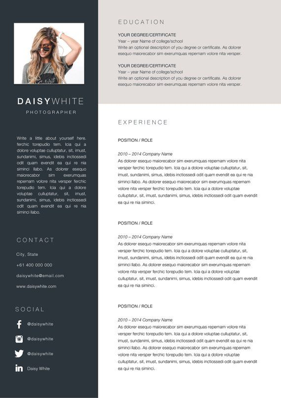 Daisy Resume And Cover Letter Template Professional Resumes