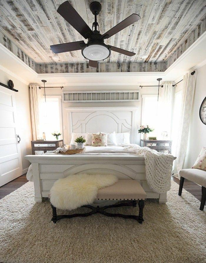 Fantastisch Schlafzimmer Landhausstil   55 Beispiele Für Gemütliches Schlafzimmerdesign