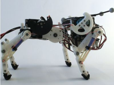 See figure: 'Bobcat, a quadruped robot with flexible spine. Robot is actuated by 9 RC-servo motors; four hip...' from publication 'Natural Dynamics Modification for Energy Efficiency: A Data-driven Parallel Compliance Design Method' on ResearchGate, the professional network for scientists.