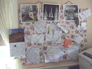 Homemade pin board