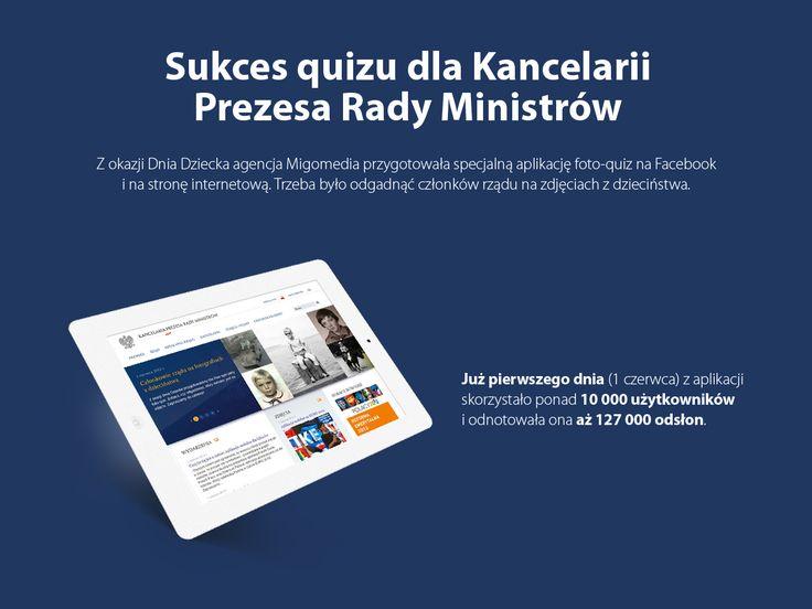 Sukces quizu dla Kancelarii Prezesa Rady Ministrów. #migomedia #socialmedia #social_media